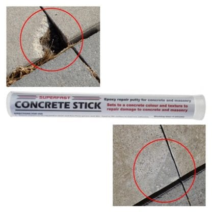Superfast Plastic Stick for the fast and permanent repair of concrete