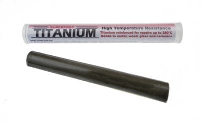 Superfast Titanium Stick from Sylmasta permanently repairs pipework subjected to high temperatures