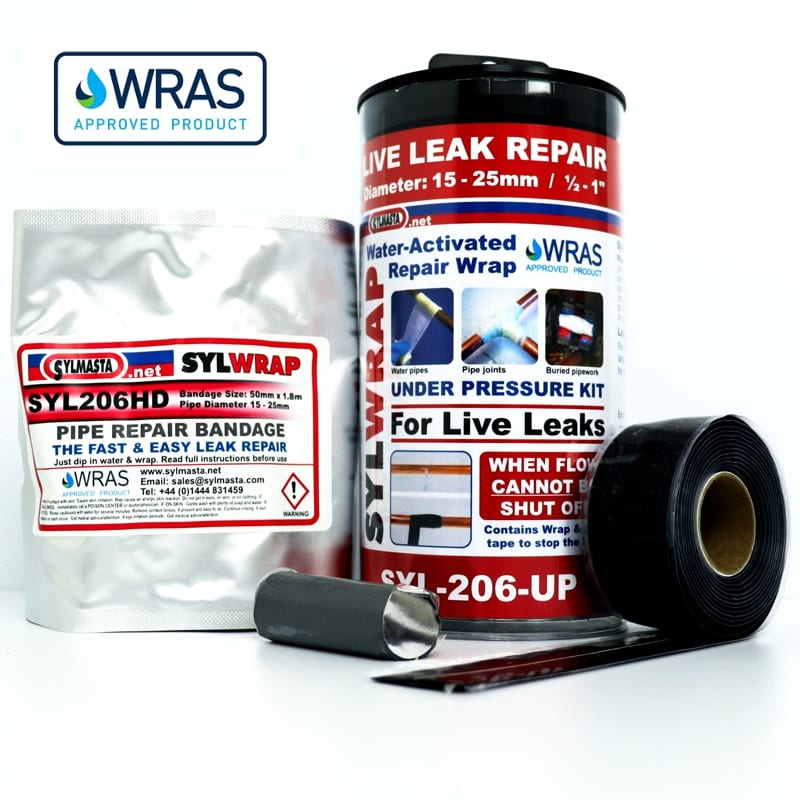 The SylWrap Universal Pipe Repair Kit enables anyone to fix a leaking pipe inside of 30 minutes