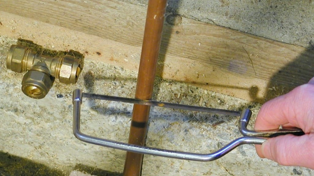 What steps to take if you accidentally drill a hole in a pipe during home DIY work