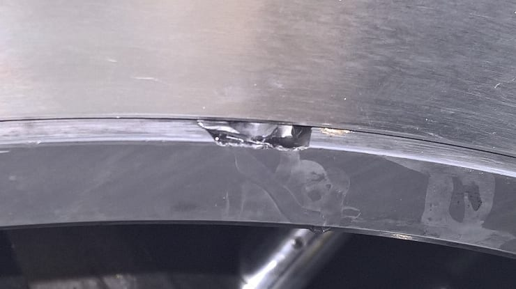 Metal machinery in a Ball Mill in Puerto Rico suffering from a heavy crack after being accidentally damaged during maintenance work