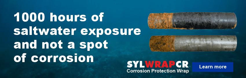 SylWrap CR Corrosion Protection Wrap protects pipes, metalwork and other structures from corrosion
